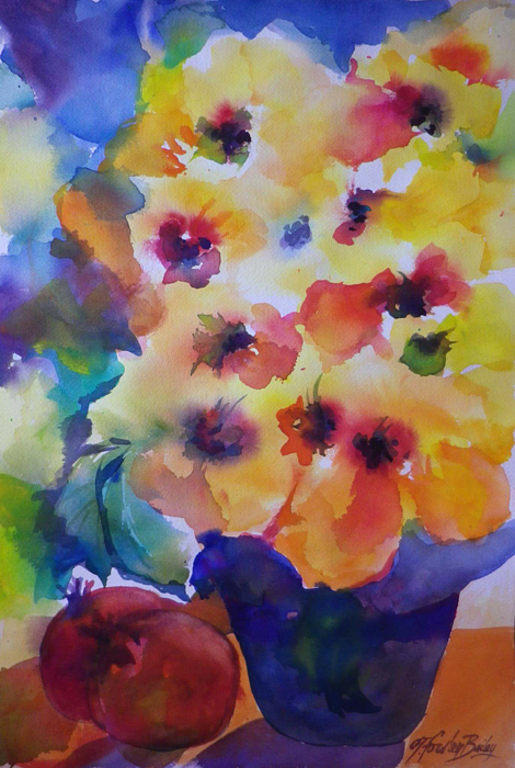 Hawaiian Hibiscus Painting - Hibiscus In Yellow by Therese Fowler-Bailey