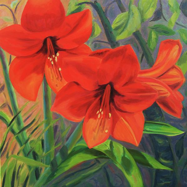 Hibiscus Painting - Hibiscus by Jane  Simonson