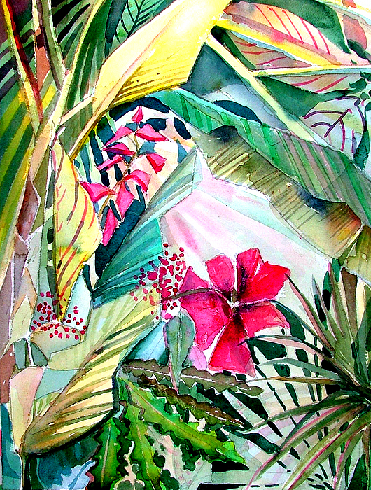 Tropical Painting - Hidden Beauty by Mindy Newman