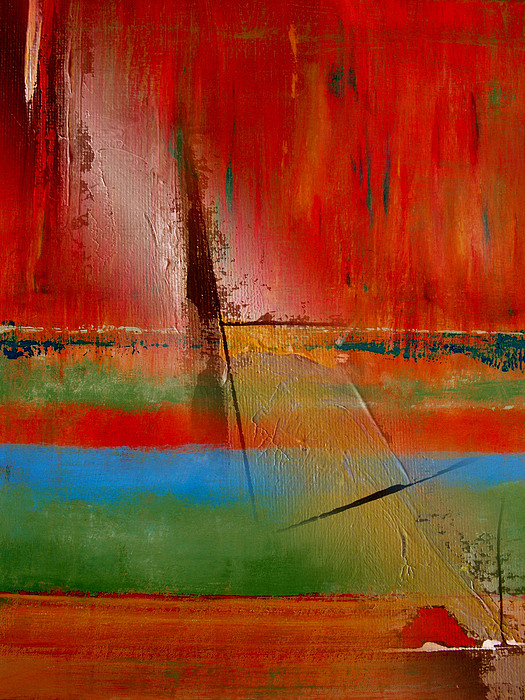 Abstract Painting - Hidden Inside The Lines by Ruth Palmer