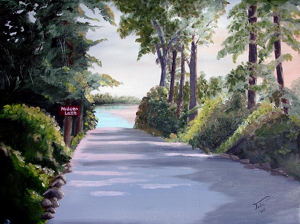Landscape Painting - Hidden Lake by Tobi Czumak