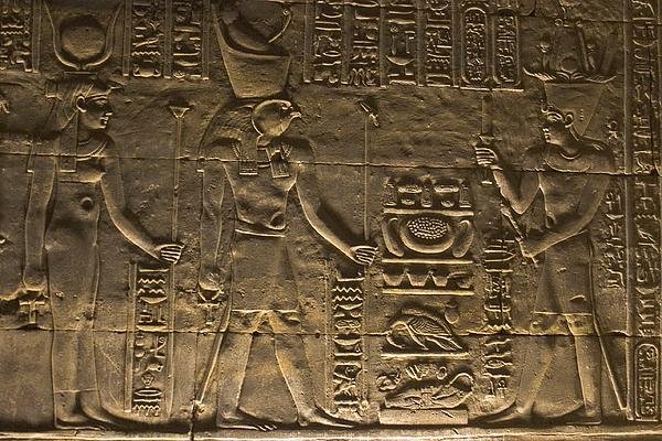 Africa Photograph - Hieroglyph At Edfu by Darcy Michaelchuk