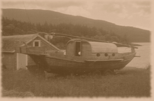 Boats Photograph - High And Dry In Sepia by Charles Robinson