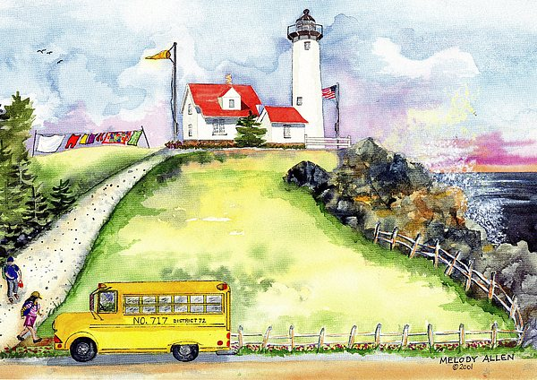 Laundry Painting - High Point Light by Melody Allen