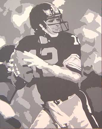 Football Painting - High School Hero by Michael James  Toomy
