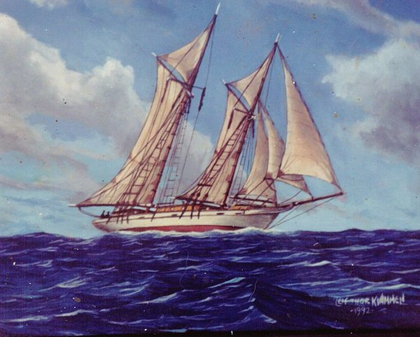 Seascape Painting - High Seas by Leif Thor Kvammen