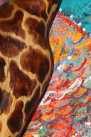 Giraffe Painting - High View by Anne-Elizabeth Whiteway