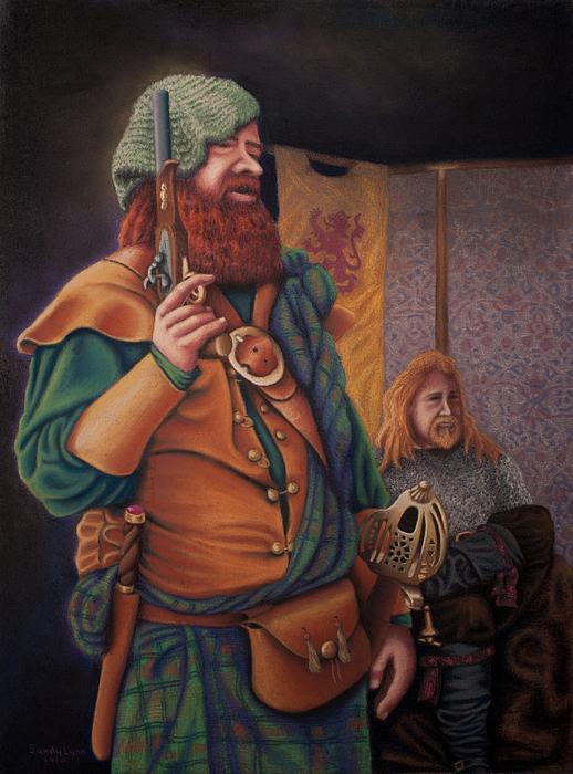 Pastel Painting - Highlanders by Sandra Lynn