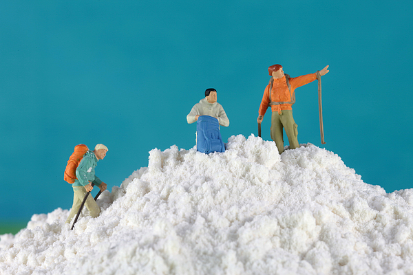 Toy Photograph - Hiking On Flour Snow Mountain by Paul Ge