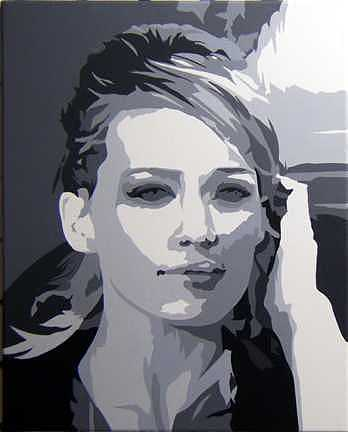Music Painting - Hillary Duff  by Michael James  Toomy