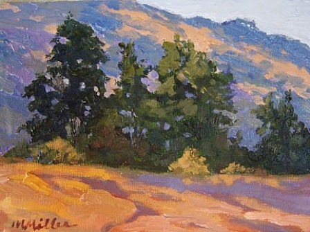 Landscape Painting - Hills by Maralyn Miller