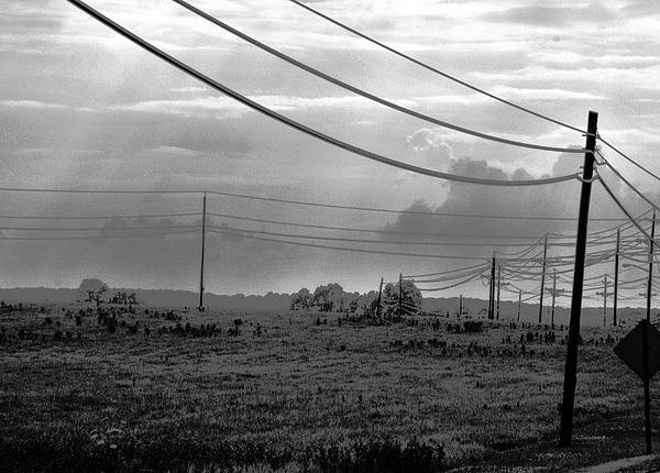 Sky Photograph - Hillsborough Road by Brian Foxx