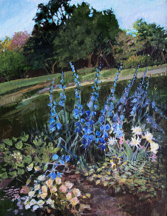 Garden Painting - Hillside Garden by Diane Ursin
