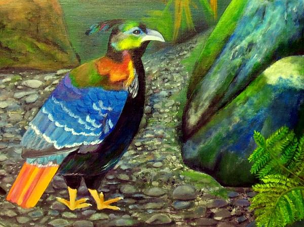 Himalayan Monal Pheasant Painting - Himalayan Monal Pheasant by Jennie Robin