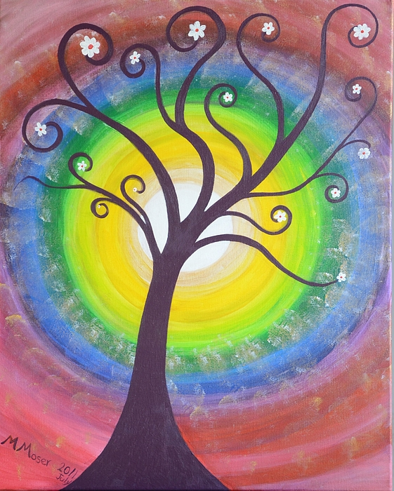 hippie tree painting by monica moser