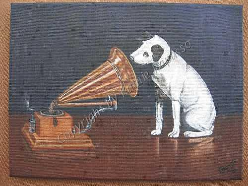 Rca Painting - His Masters Voice by Kathie Papasso