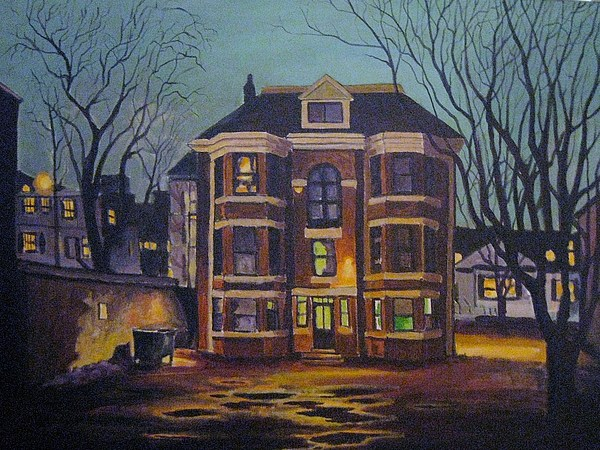 Moody Painting - Historic Property South End Haifax by John Malone