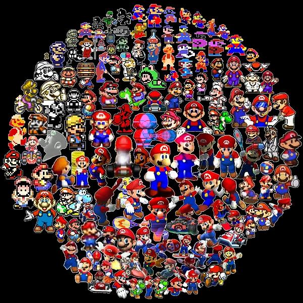 Nintendo Digital Art - History Of Mario Mosaic by Paul Van Scott