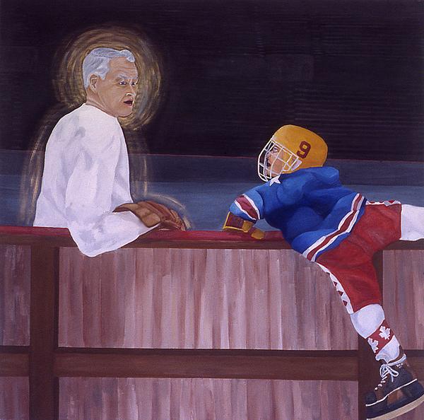 Hockey Painting - Hockey God by Ken Yackel