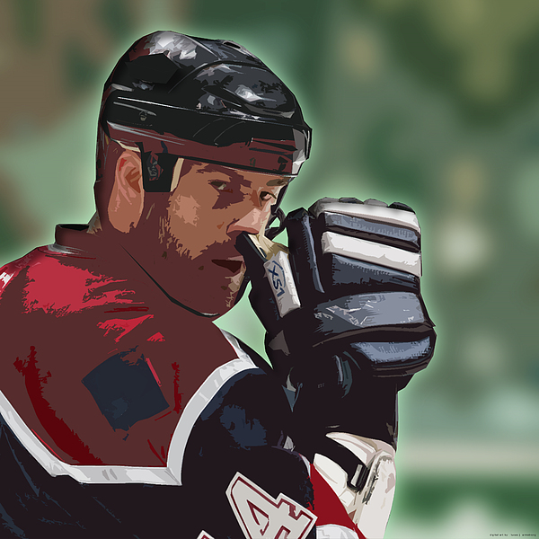 Ice Hockey Photograph - Hockey Illustration by Lucas Armstrong