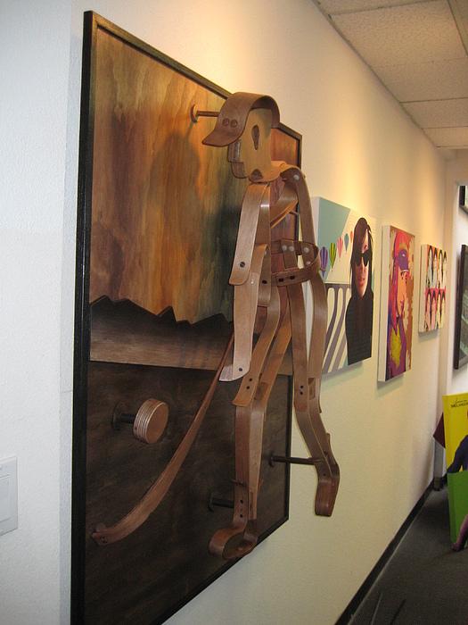 Sports Sculpture - Hockeyman2 by Marko Martinez