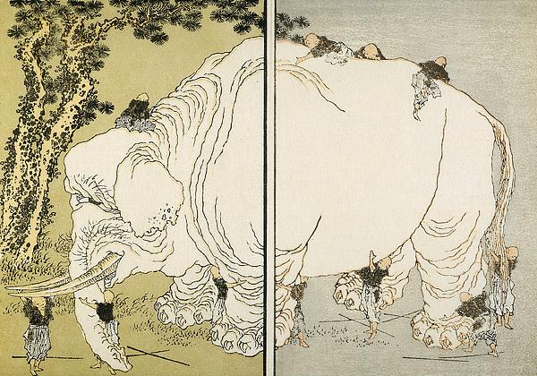 1817 Photograph - Hokusai: Elephant by Granger