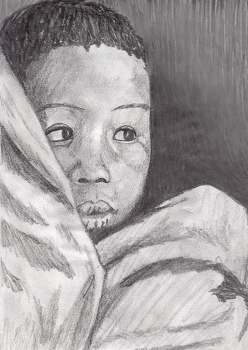 Child Drawing - Hold Me Mom by Jean Haynes
