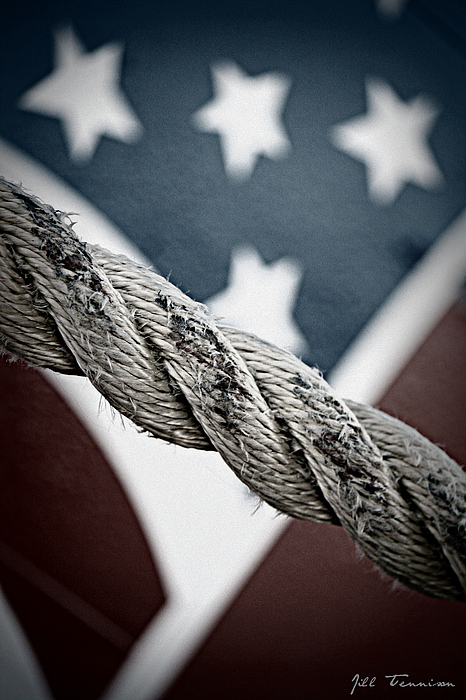 Flag Photograph - Hold On by Jill Tennison