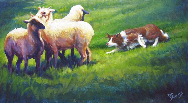 Dog Painting - Holdem Sadie by Pat Burns