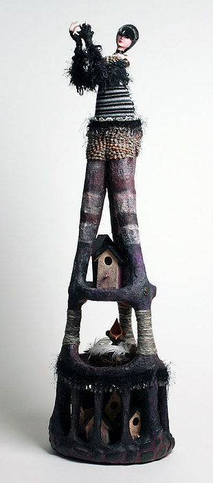 Human Figure Mixed Media - Holding Other Houses by Christine Harris