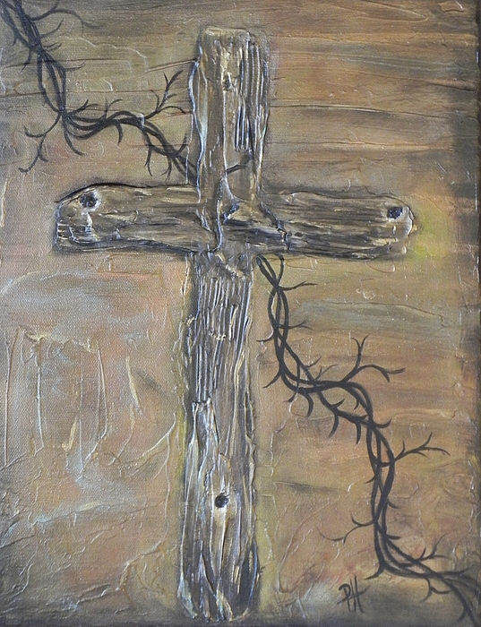 Cross Painting - Holes by Patti Spires Hamilton