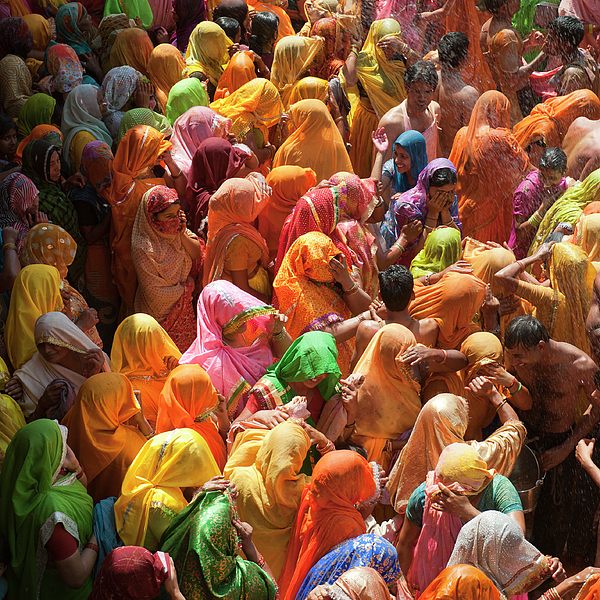 Square Photograph - Holi India by Tayseer AL-Hamad