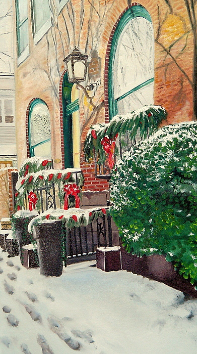 Baltimore Painting - Holiday In The City by John Schuller