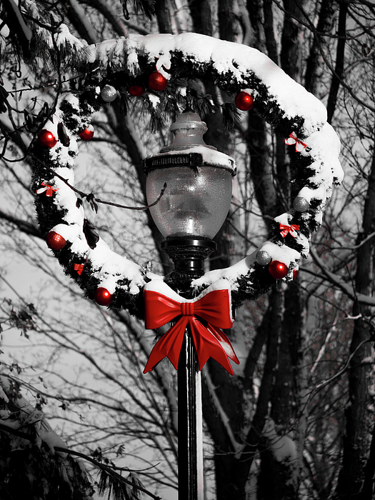 Oakville Photograph - Holiday Lamp Post by Rae Tucker