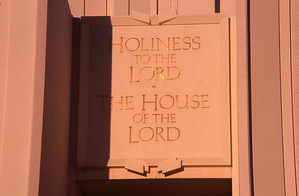 Lds Photograph - Holiness To The Lord by Cynthia Cox Cottam