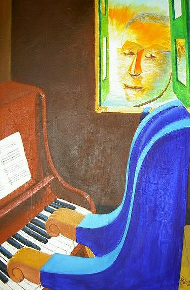 Black History Painting - Homage To Jelly Roll Morton by David G Wilson