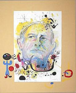 Homage To Miro Painting by Helmut  Preiss