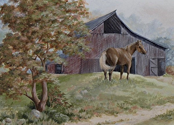 Barn Painting - Home At Last by Kathleen Keller