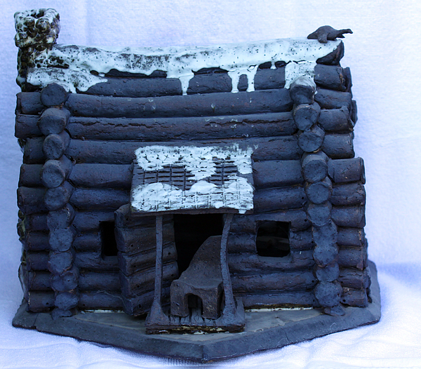 Cabin Sculpture - Home Base by Tom Sellas