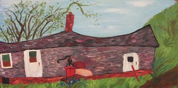 Home Painting - Home In Feeding Hills Part 2 by Suzanne  Marie Leclair