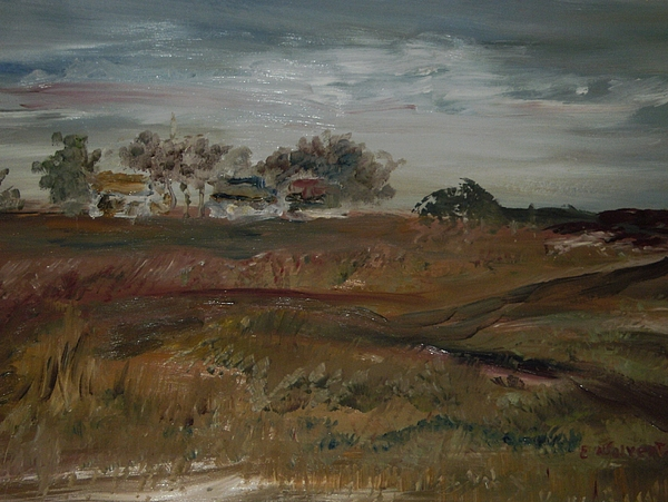 Landscape Painting - Home On The Range by Edward Wolverton