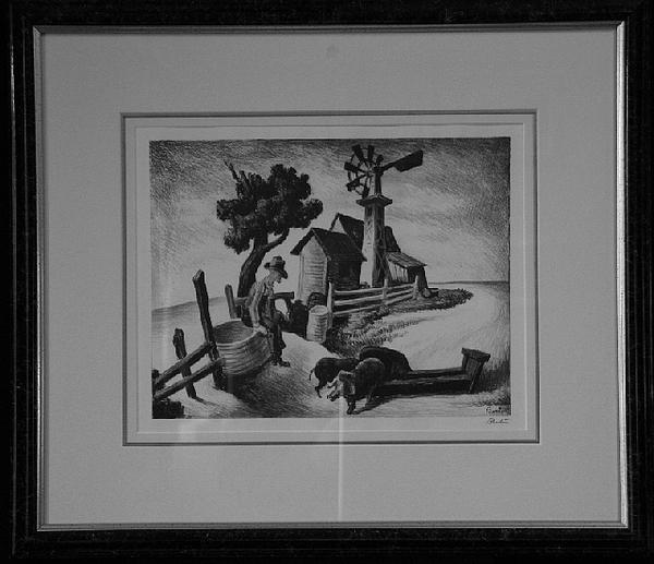 Thomas Hart Benton Drawing - Homestead F.20 by Thomas Hart Benton