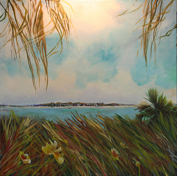 Marsh Painting - Honeymoon Island by Michele Hollister - for Nancy Asbell