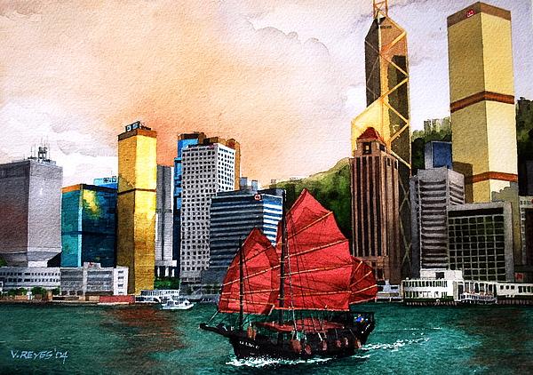 Hongkong Painting - Hong Kong by V  Reyes
