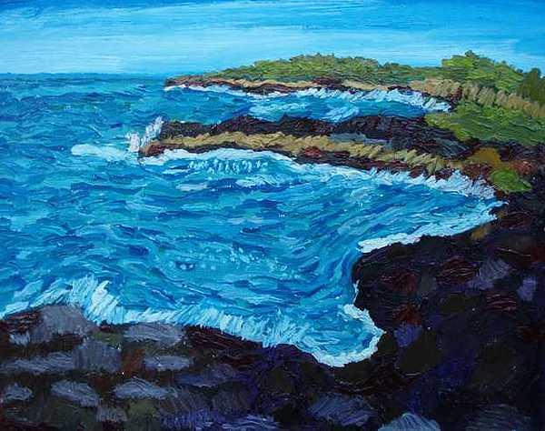 Seascape Painting - Honokauha by Patrice Tullai
