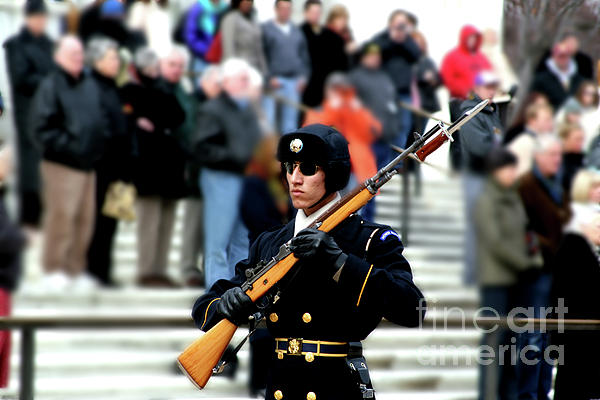 Unknown Soldier Photograph - Honor Guard At Arlington Cemetery by April Sims
