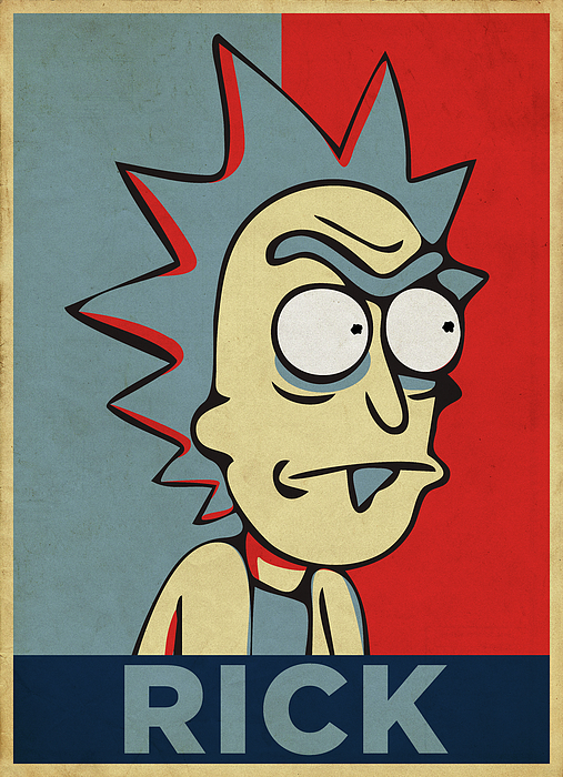 Hope For Rick Digital Art By Rick And Morty