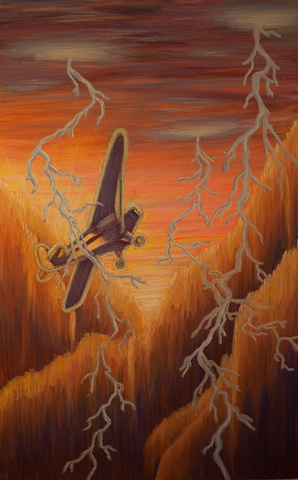 Plane Painting - Hope In The Distance by Thomas Maynard