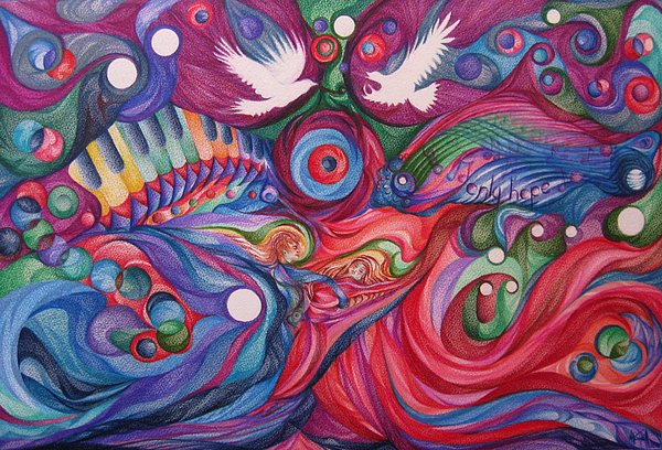 Hope Through Creation Drawing by NHowell