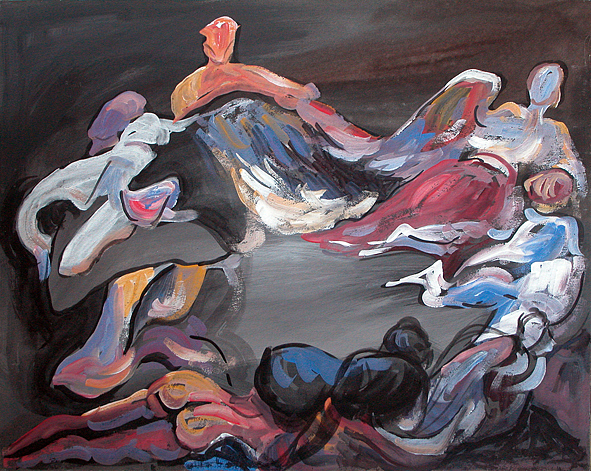 Hora Painting by Gheorghe Durlea